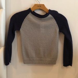 Gray navy knitted sweater